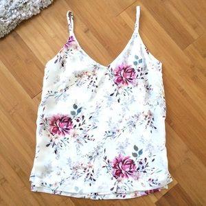WHBM Reversible Floral V-Neck Cami Size xxs